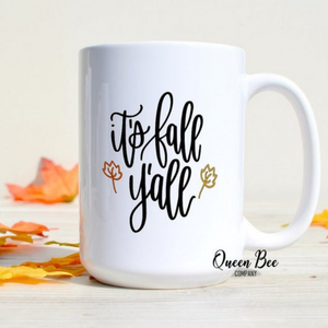 It's Fall Y'all Coffee Mug - The Queen Bee Company
