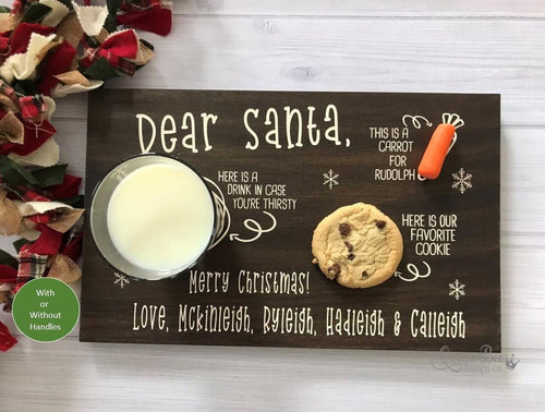 Personalized Santa Tray - The Queen Bee Company