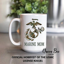 Load image into Gallery viewer, US Marine Mom Coffee Mug - The Queen Bee Company