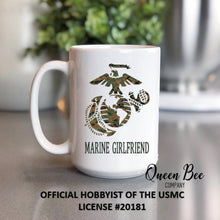 Load image into Gallery viewer, US Marine Girlfriend Coffee Mug - The Queen Bee Company