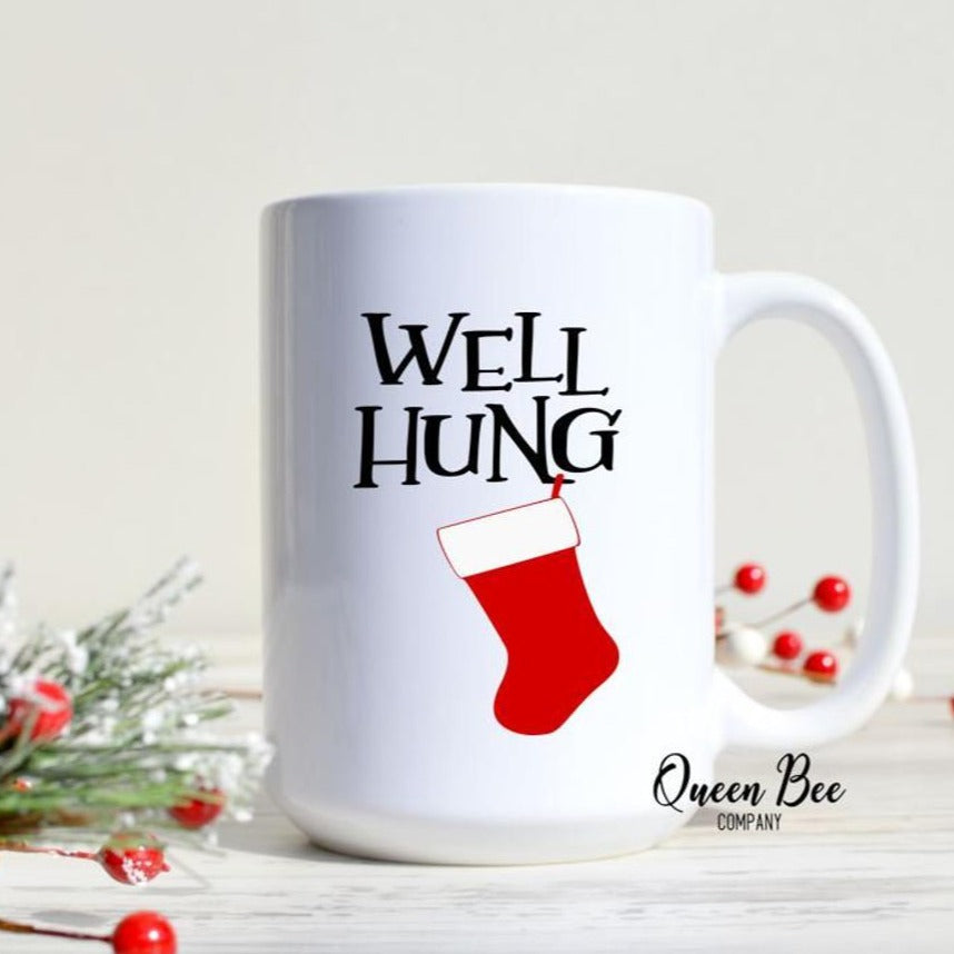 Well Hung Christmas Mug - The Queen Bee Company