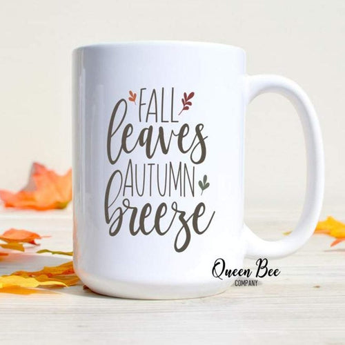 Fall Leaves Autumn Breeze Coffee Mug - The Queen Bee Company