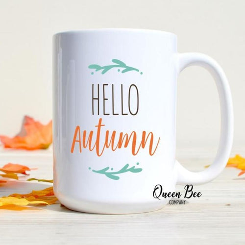Hello Autumn Coffee Mug - The Queen Bee Company