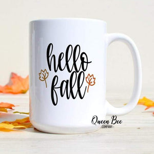 Hello Fall Coffee Mug - The Queen Bee Company