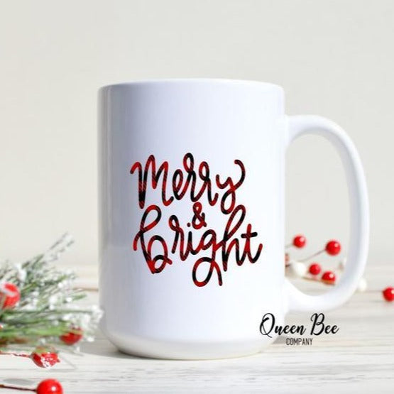 Merry & Bright Mug - The Queen Bee Company