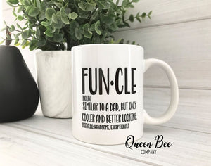Funcle Coffee Mug - Uncle Coffee Mug - The Queen Bee Company