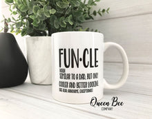 Load image into Gallery viewer, Funcle Coffee Mug - Uncle Coffee Mug - The Queen Bee Company
