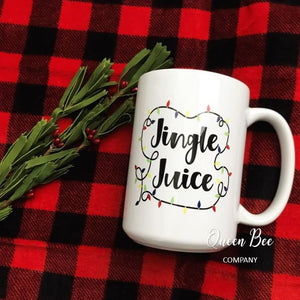 Jingle Juice Coffee Mug - Jingle Juice Mug - Christmas Coffee Mug - The Queen Bee Company
