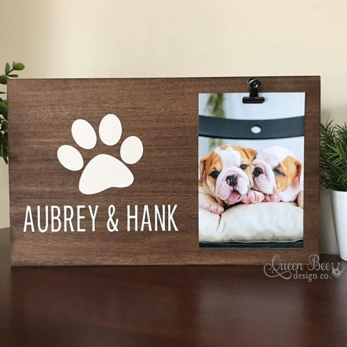 Personalized Dog Frame - The Queen Bee Company