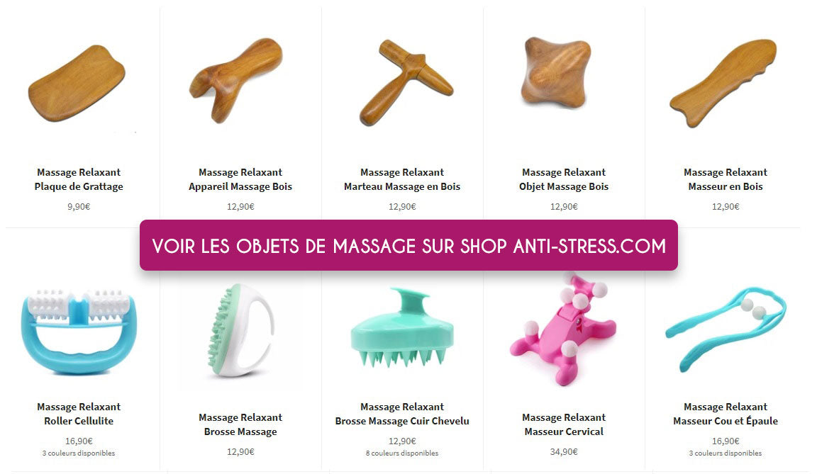 collection objet massage relaxant