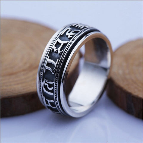Bague Anti-Stress <br>Mantra (Argent) - Shop Antistress