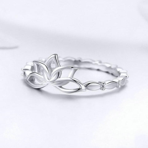 Bague Anti-Stress <br>Alliance Fleur de Lotus (Argent) - Shop Antistress
