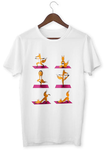 T-Shirt Zen <br> Renard Posture Yoga - Shop Antistress