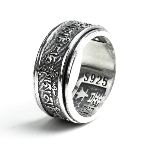 Bague Anti-Stress <br>Om Mani Padme Hum (Argent) - Shop Antistress
