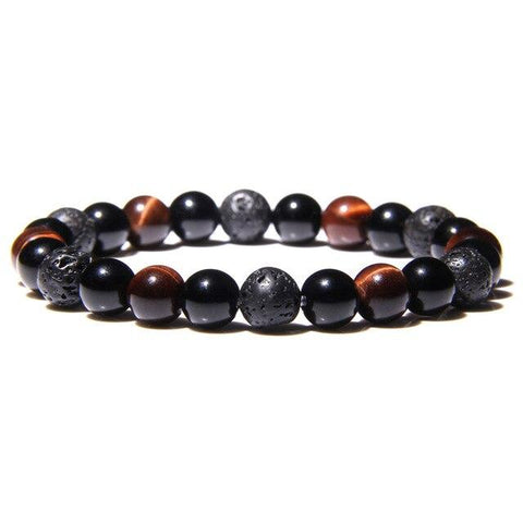 Bracelet Anti-Stress <br>Onyx et Oeil de Tigre - Shop Antistress