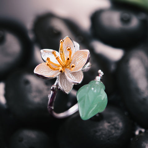 Bague Anti-Stress <br>Fleur de Lotus (Argent) - Shop Antistress