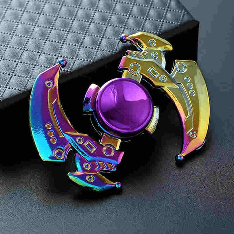 Rainbow Heptagonal Hand Spinner fidget Zinc Alloy Metal fidget spinner metal bearing edc finger Spinner Hand relieves stress - Shop Antistress