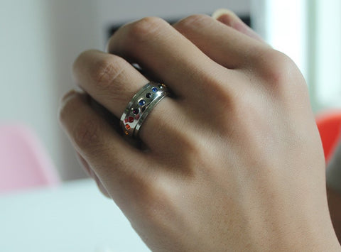 Bague Anti-Stress <br>Arc en Ciel - Shop Antistress