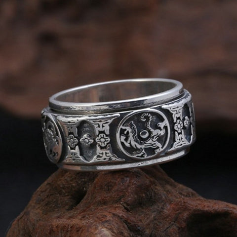 Bague Anti-Stress <br>Tigre (Argent) - Shop Antistress