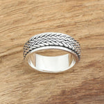 Bague Anti-Stress <br>Tresses (Argent) - Shop Antistress