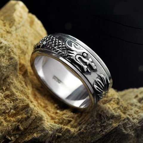 Bague Anti-Stress <br>Dragon (Argent) - Shop Antistress