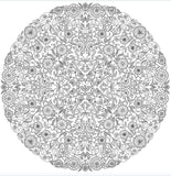 Coloriage Anti-Stress <br>Mandala Jardin - Shop Antistress