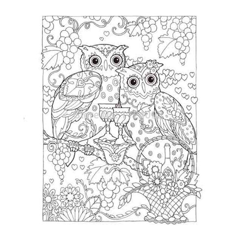 Coloriage Anti-Stress <br>Hiboux - Shop Antistress