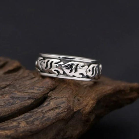 Bague Anti-Stress <br>Poisson (Argent) - Shop Antistress