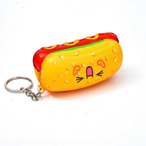 Porte Clé Anti-Stress <br>Squishy Hot Dog - Shop Antistress
