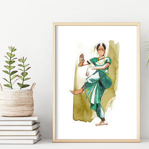 SIGNATURE COLLECTION - Bharathanatyam - Art Prints
