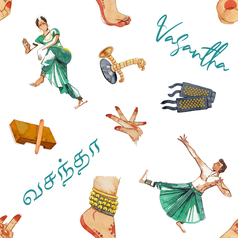 SIGNATURE COLLECTION - Bharathanatyam - Floor Pillow