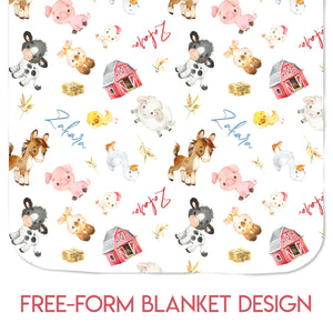 Farm Animals - Blanket