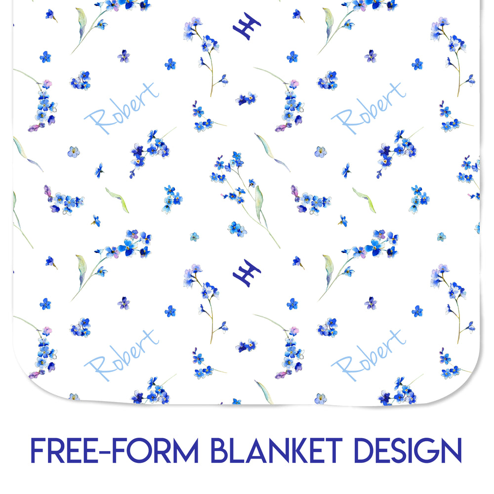 Forget-Me-Nots - SHINING LIGHT SERIES - Minky Blanket