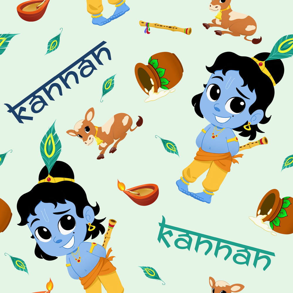 Load image into Gallery viewer, SIGNATURE COLLECTION - Little Krishna - Blanket