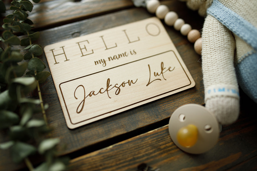 Wooden Name Tag