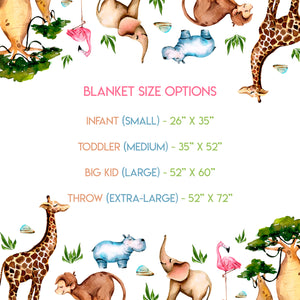 Safari Animals - Blanket