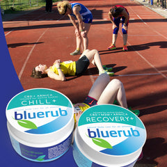 bluerub recovery products for athletes