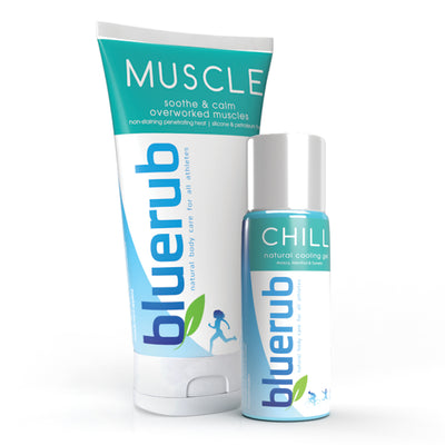 MUSCLE & CHILL, warm & cooling relief for sore & overworked muscles