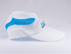 running hat keeps sweat out of your eyes