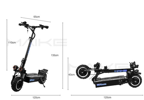 Measure electrical Scooter Maike MK8