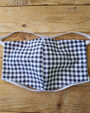 Squasht Face Mask With Filter - Black and White Gingham Print
