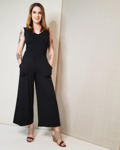 Squasht Jumpsuit in Solid Black