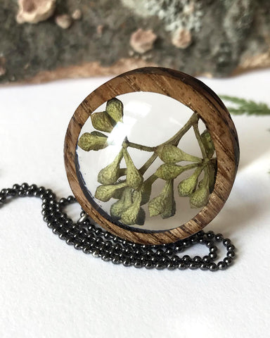 Build With Wood Plantlife Pendant Eucalyptus Large Round