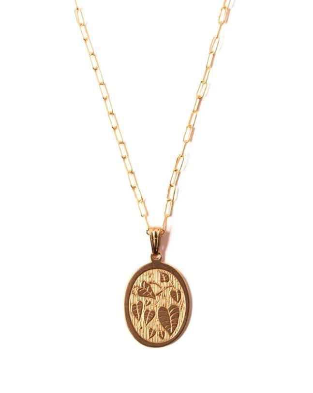 Michelle Starbuck Monstera Charm Necklace