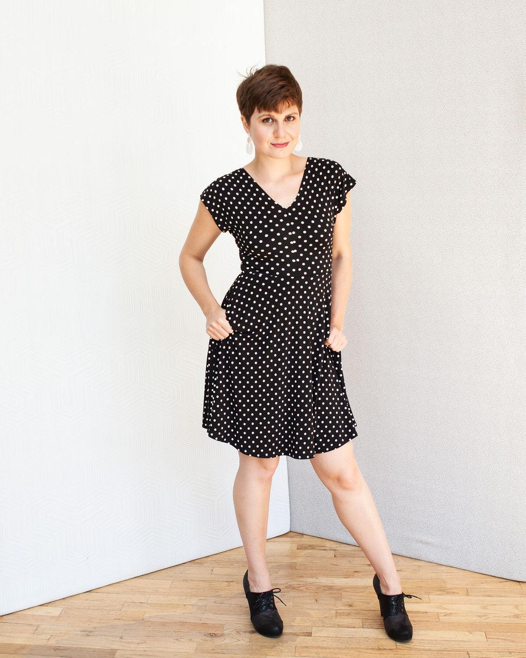 Frankie Four Daphne Dress Black & White Polka Dots
