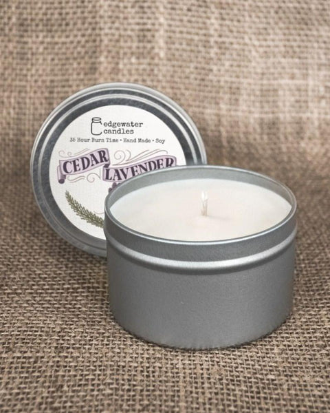 Edgewater Candles Travel Tin - Various Scents