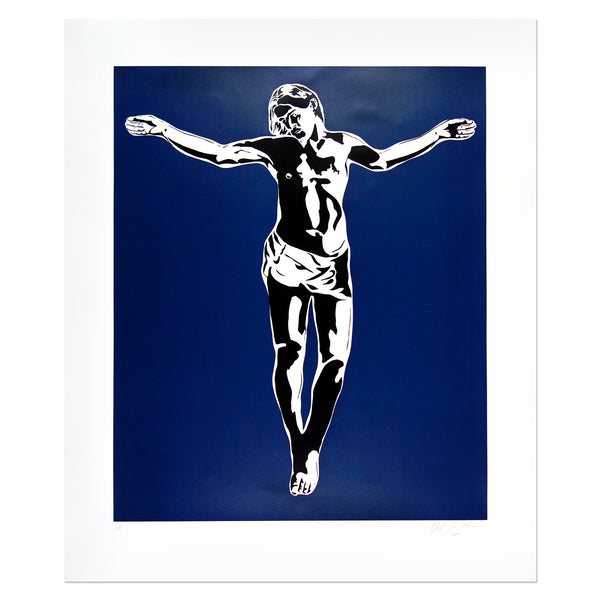 Blek Le Rat - Jesus (Blue Version) | PRINTS AND PIECES