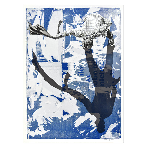 Anders Gjennestad - The Sweeper (Blue) | PRINTS AND PIECES