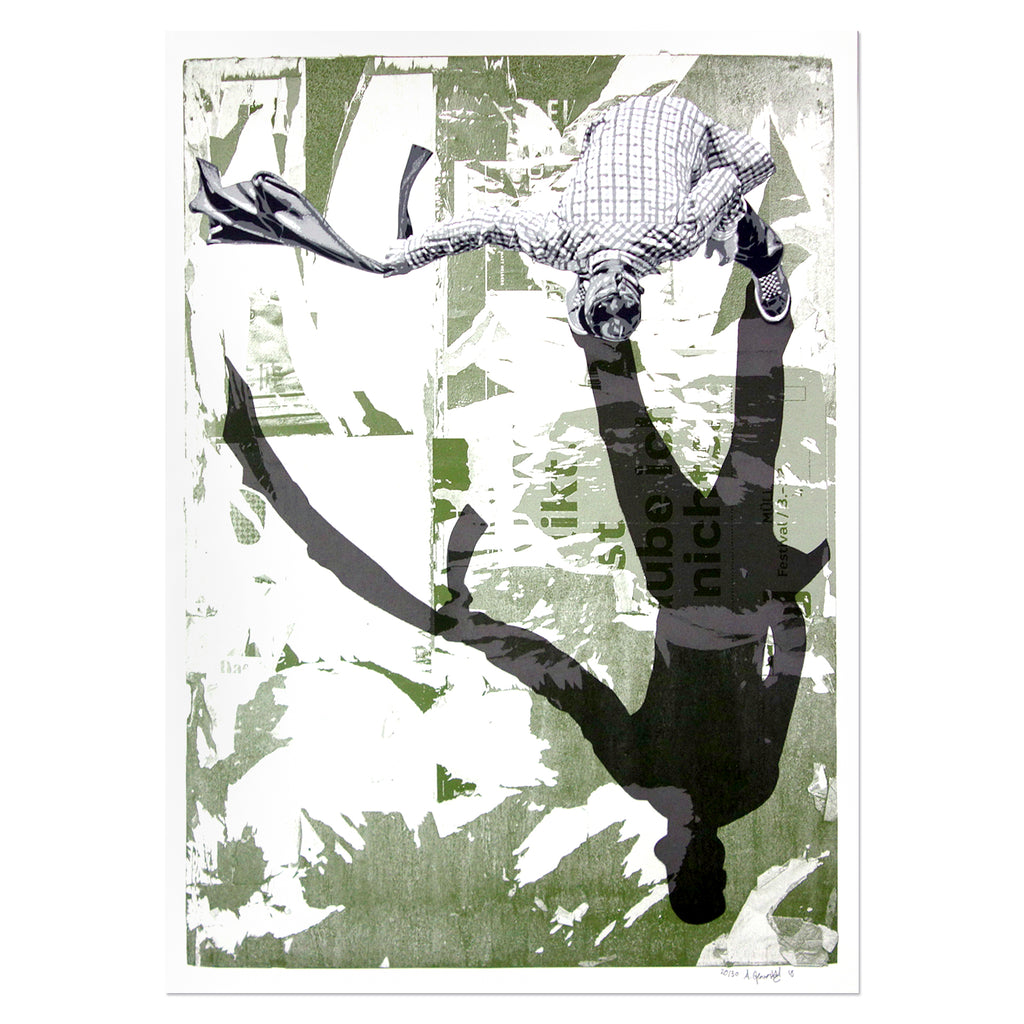 Anders Gjennestad - The Sweeper (Green) | PRINTS AND PIECES