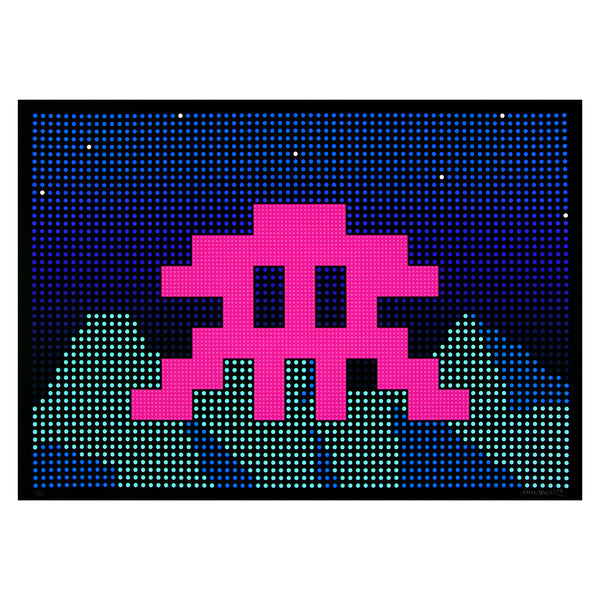 Invader - L.E.D. | PRINTS AND PIECES